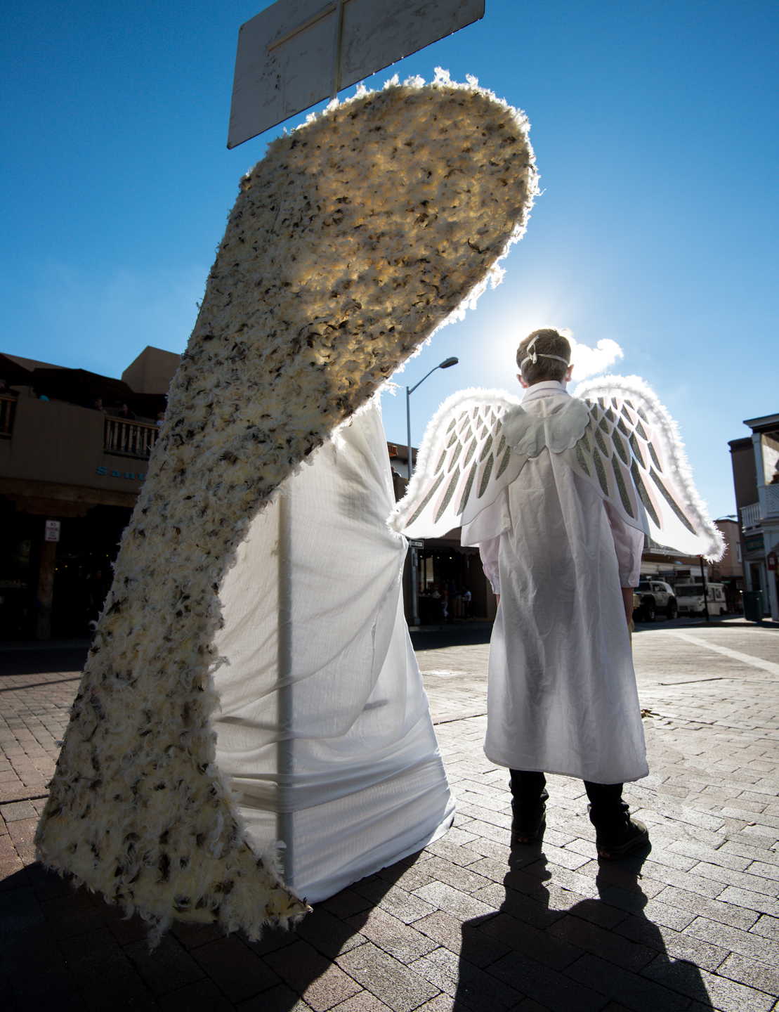 Amen Corner:  Angels on the Santa Fe Plaza