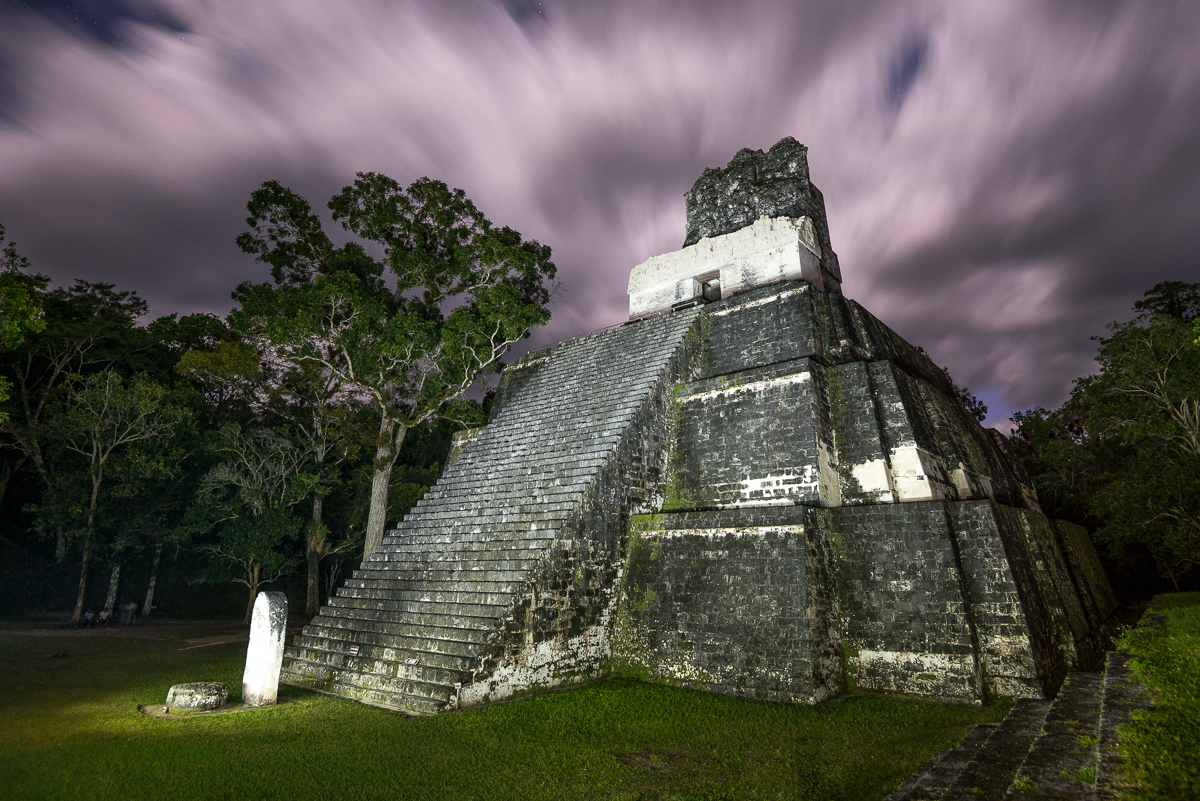 Tikal, Guatemala:  After Dark in the Great Plaza